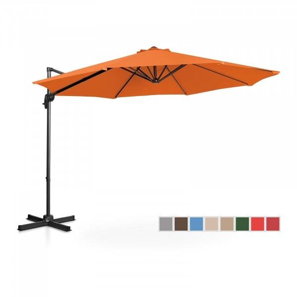 B-varer Hengeparasoll - oransje - rund - Ø 300 cm - kan dreies