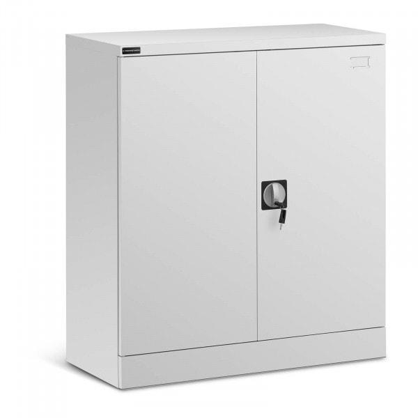 B-varer Oppbevaring med lås - 185 cm - 4 skuffer - grå