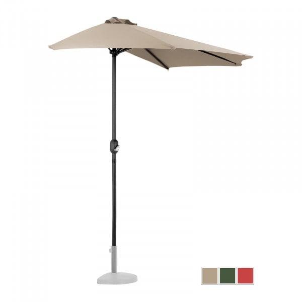 B-varer Halv parasoll - krem - femkantet - 270 x 135 cm