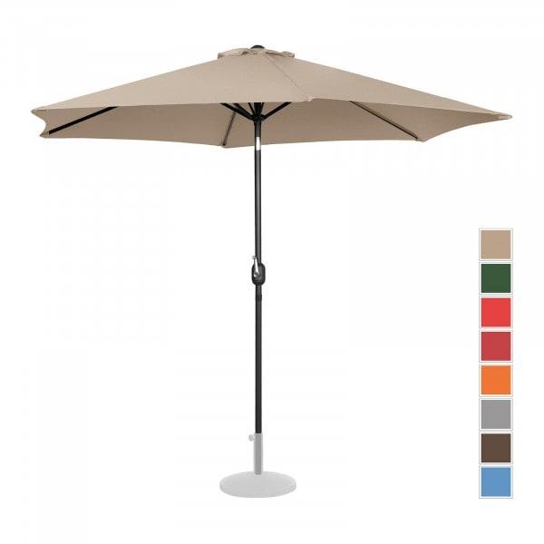 B-varer Stor parasoll - krem - sekskantet - Ø 300 cm - kan skråstilles