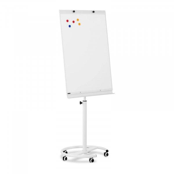 B-varer Whiteboard - 70 x 100 cm - magnetisk - høydejusterbar - 5 hjul