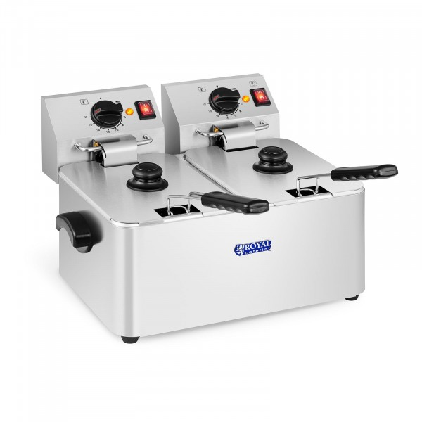 Frityrkoker - 2 x 8 liter - EGO-termostat