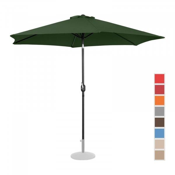 B-varer Stor parasoll - grønn - sekskantet - Ø 300 cm - kan skråstilles