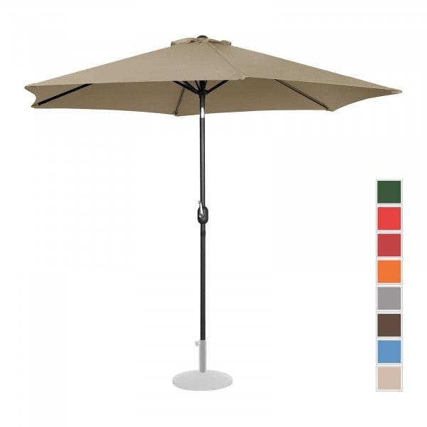 B-varer Stor parasoll - taupe - sekskantet - Ø 300 cm - kan skråstilles
